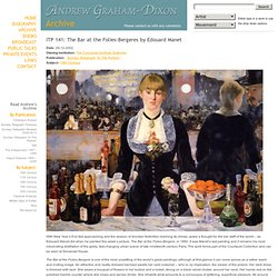 Archives: ITP 141: The Bar at the Folies-Bergeres by Edouard Manet