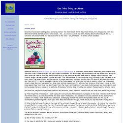 the blue blog archives: blogging about reading about knitting