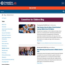 Middle School Archives - Committee for Children