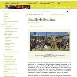 La bataille de Bouvines [ressource]