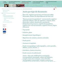 Archives en ligne - par type de documents