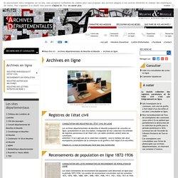Archives en ligne - Archives départementales de Meurthe-et-Moselle