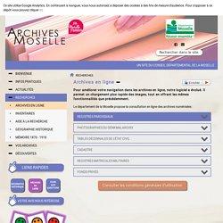 Archives Départementales de la Moselle - Archives en ligne
