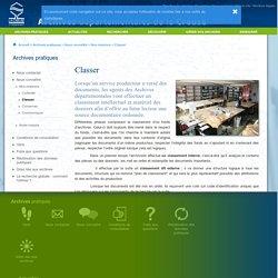 Classer - Archives départementales de la Creuse