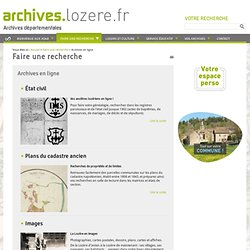 Archives en ligne - Archives départementales de la Lozère