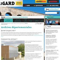 Archives départementales - Conseil Général du Gard