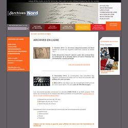 Site web des Archives départementales du Nord - Archives en ligne - Archives en ligne