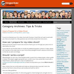 Tips & Tricks Archives - Ecampus Course Development and Training