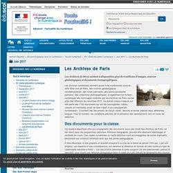 Les Archives de Paris — Enseigner avec le numérique
