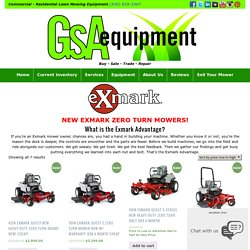 New Exmark Mowers Archives - GSA Equipment - New - Used Lawn Mowers and Mower Repair Service Canton Akron Wadsworth Ohio