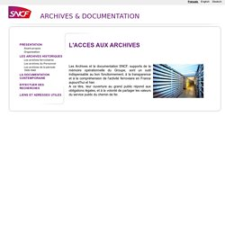 ARCHIVES ET DOCUMENTATION