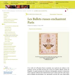 Les ballets russes à Paris