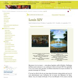 1715 - Louis XIV [ressource]