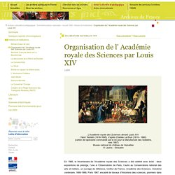 1699 - académie royale des sciences [ressource]