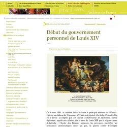 1661, avènement de Louis XIV [ressource]
