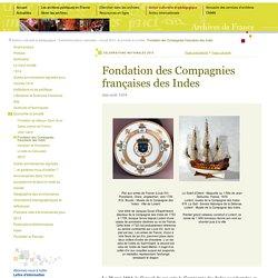 Archives : 1664 fondation de la compagnie des Indes orientales [ressource]