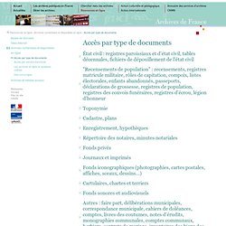 Archives en ligne - par type de documents