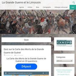 Quiz Archives - La Grande Guerre et le Limousin
