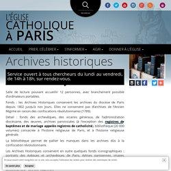 Archives historiques