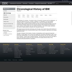 Archives: History of IBM