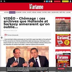 VIDÉO - Chômage : ces archives que Hollande et Sarkozy aimeraient qu'on oublie…