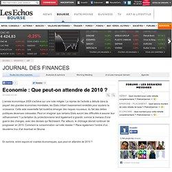 Journal des Finances - Les minutes de vérité : Economie : Que