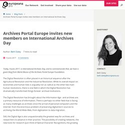 Archives Portal Europe invites new members on International Archives Day