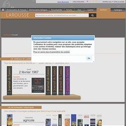 Archives Larousse - Les archives de Larousse en ligne