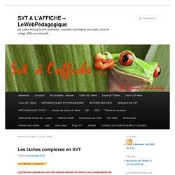 SVT 4ème Archives - SVT A L'AFFICHE - LeWebPédagogique