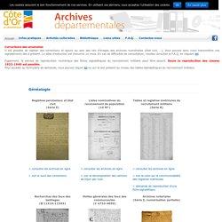 Archives Départementales de Côte-d'Or - Archives en ligne
