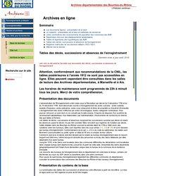 Archives Départementales des Bouches-du-Rhône - Archives en ligne-Archives13.fr