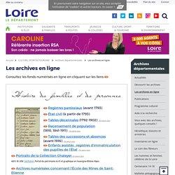 Les archives en ligne - Département de la Loire
