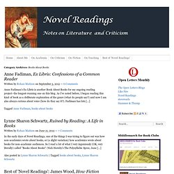 Archives for Books About Books » Novel Readings - Notes on Literature and Criticism