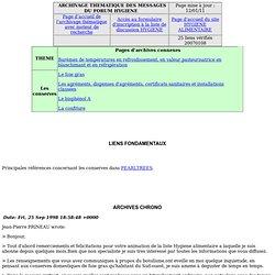 Archives des messages du forum HYGIENE en rapport avec les conserves