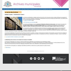 Archives Municipales de Marseille