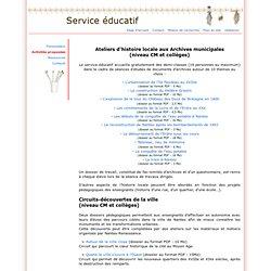 Archives municipales de Nantes : Service éducatif