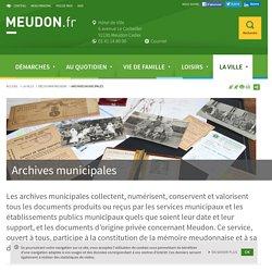 Archives municipales - Ville de Meudon