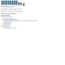 Archives nationales (France) - Base de données Leonore/recherche