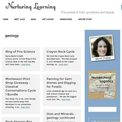 geology Archives - Nurturing Learning
