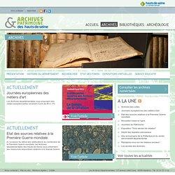 Archives & Patrimoine des Hauts-de-Seine: Archives