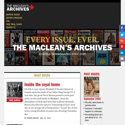 Maclean's Archives: Canada's history, politics and personalities