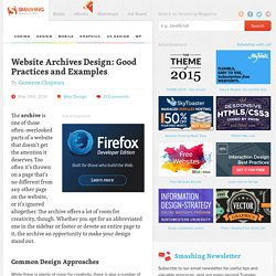 Website Archives Design: Good Practices and Examples - Smashing Magazine