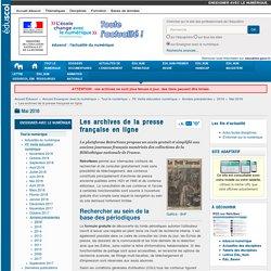 Les archives de la presse française en ligne