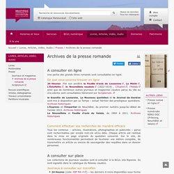 Archives de la presse romande