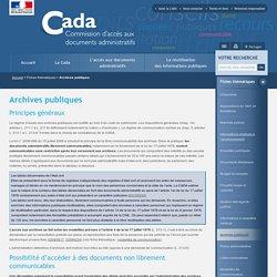 Archives publiques