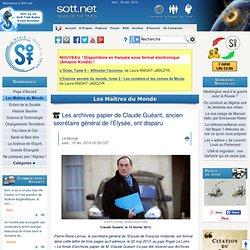 Les archives papier de Claude Guéant, ancien secrétaire général de l'Elysée, ont disparu