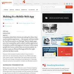 Making It a Mobile Web App - Smashing Magazine