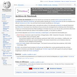 Archives de Smolensk