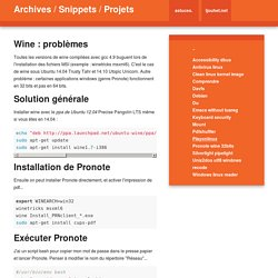 Archives / Snippets / Projets