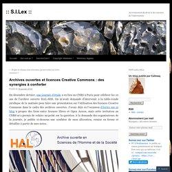 Archives ouvertes et licences Creative Commons : des synergies à conforter